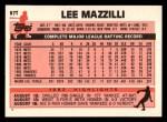 1983 Topps Traded #67 T Lee Mazzilli  Back Thumbnail
