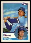 1983 Topps Traded #104 T Joe Simpson  Front Thumbnail