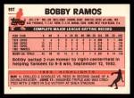 1983 Topps Traded #93 T Bobby Ramos  Back Thumbnail