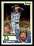 1983 Topps Traded #123 T Rick Waits  Front Thumbnail
