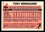 1983 Topps Traded #9 T Tony Bernazard  Back Thumbnail