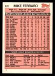 1983 Topps Traded #32 T Mike Ferraro  Back Thumbnail