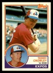 1983 Topps Traded #22 T Terry Crowley  Front Thumbnail