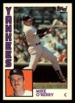 1984 Topps Traded #86  Mike O'Berry  Front Thumbnail