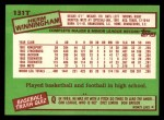 1985 Topps Traded #131 T Herm Winningham  Back Thumbnail