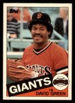 1985 Topps Traded #41 T David Green  Front Thumbnail