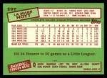 1985 Topps Traded #59 T LaMarr Hoyt  Back Thumbnail