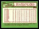 1985 Topps Traded #88 T Al Oliver  Back Thumbnail