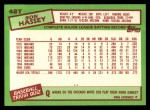 1985 Topps Traded #48 T Ron Hassey  Back Thumbnail