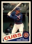 1985 Topps Traded #111 T Chris Speier  Front Thumbnail