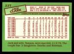 1985 Topps Traded #22 T Jack Clark  Back Thumbnail