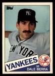 1985 Topps Traded #6 T Dale Berra  Front Thumbnail