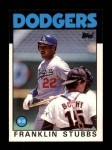 1986 Topps Traded #105 T Franklin Stubbs  Front Thumbnail