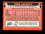 1986 Topps Traded #64 T Tim Leary  Back Thumbnail