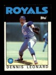 1986 Topps Traded #65 T Dennis Leonard  Front Thumbnail