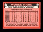 1986 Topps Traded #44 T Moose Haas  Back Thumbnail