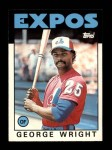 1986 Topps Traded #128 T George Wright  Front Thumbnail