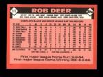 1986 Topps Traded #31 T Rob Deer  Back Thumbnail
