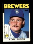 1986 Topps Traded #31 T Rob Deer  Front Thumbnail