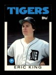 1986 Topps Traded #53 T Eric King  Front Thumbnail