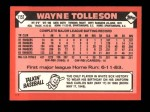 1986 Topps Traded #115 T Wayne Tolleson  Back Thumbnail