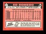 1986 Topps Traded #95 T Ed Romero  Back Thumbnail
