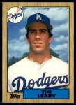 1987 Topps Traded #64 T Tim Leary  Front Thumbnail