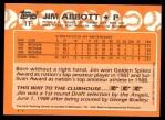 1988 Topps Traded #1 T  -  Jim Abbott Team USA Back Thumbnail