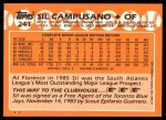 1988 Topps Traded #24 T Sil Campusano  Back Thumbnail