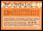 1988 Topps Traded #44 T  -  Ty Griffin Team USA Back Thumbnail