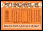 1988 Topps Traded #53 T Glenn Hubbard  Back Thumbnail