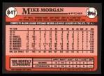 1989 Topps Traded #84 T Mike Morgan  Back Thumbnail
