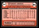 1989 Topps Traded #39 T Tommy Gregg  Back Thumbnail