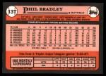 1989 Topps Traded #13 T Phil Bradley  Back Thumbnail
