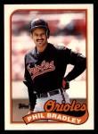 1989 Topps Traded #13 T Phil Bradley  Front Thumbnail