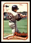 1989 Topps Traded #23 T Mike Devereaux  Front Thumbnail