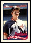 1989 Topps Traded #4 T Keith Atherton  Front Thumbnail