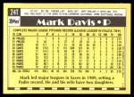 1990 Topps Traded #24 T Mark Davis  Back Thumbnail
