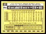 1990 Topps Traded #92 T Gerald Perry  Back Thumbnail