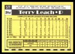 1990 Topps Traded #57 T Terry Leach  Back Thumbnail
