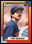 1990 Topps Traded #66 T Fred Manrique  Front Thumbnail
