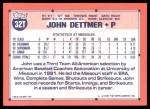 1991 Topps Traded #32 T  -  John Dettmer Team USA Back Thumbnail