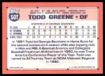 1991 Topps Traded #50 T  -  Todd Greene Team USA Back Thumbnail