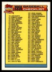 1991 Topps Traded #132 T  Checklist 1T-132 Front Thumbnail