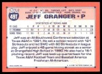 1991 Topps Traded #49 T  -  Jeff Granger Team USA Back Thumbnail