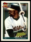 1991 Topps Traded #129 T Willie Wilson  Front Thumbnail