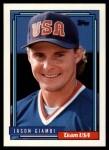 1992 Topps Traded #40 T  -  Jason Giambi Team USA Front Thumbnail