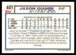 1992 Topps Traded #40 T  -  Jason Giambi Team USA Back Thumbnail
