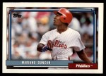 1992 Topps Traded #30 T Mariano Duncan  Front Thumbnail