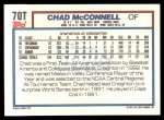1992 Topps Traded #70 T  -  Chad McConnell Team USA Back Thumbnail